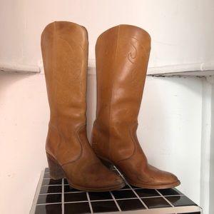 Tan cowboy boots